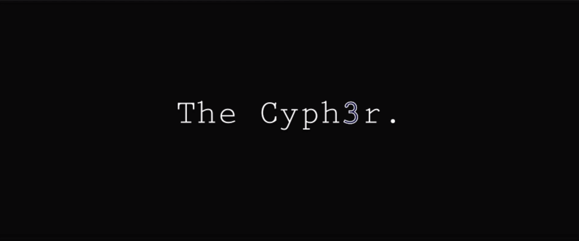 The Cyph3r COVER