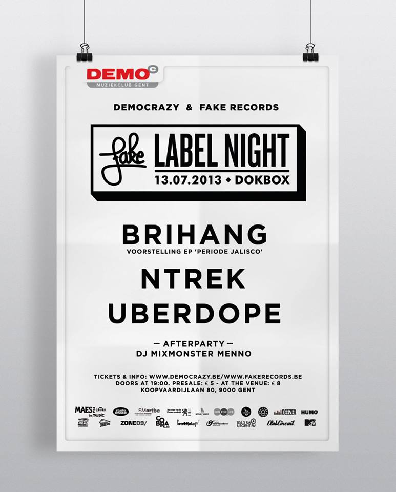 flus-fake-records-labelnight-dokbox-Gent-Uberdope-NTREK-Brihang-dj-mixmonster-menno-flyer-event
