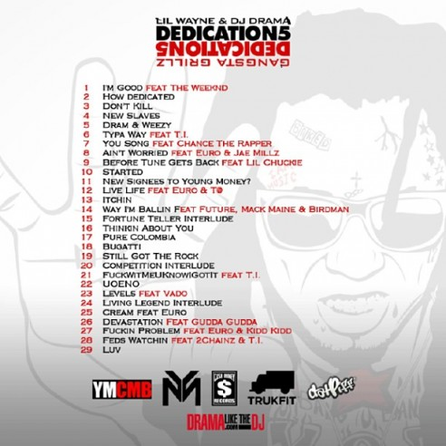 flus - lil wayne - dedication mixtape